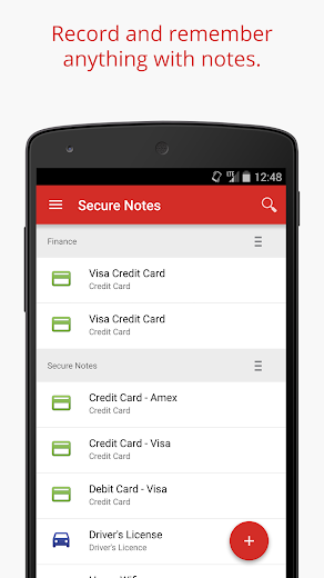 Screenshot 2 for LastPass's Android app'