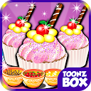Sweet Candy Cup Cake Cooking mobile app icon