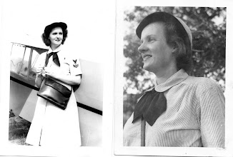 Photo: On the left, Rosemary Myers, Chase Field Wave, May 1944.  Notice the uniform is made from seersucker material. Photo Courtesy Don Kochi