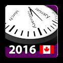 2016 Canada Holiday Calendar