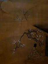 "Photo: Frier Gallery  ""Is not the Moon the same? The spring The spring of old? Only this body of mine Is the same body..""  ""Ariwara no Narihira"" Sumiyoshi Gukei (svila, Japan, Edo period, kraj 17./pocetak 18.veka)"