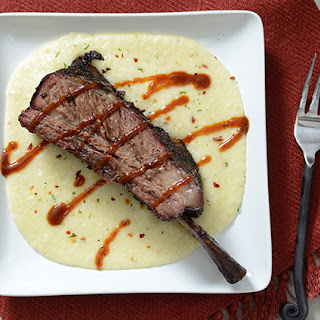 Smoked Beef Short Ribs with Beer Cheese Grits