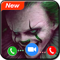 Scary Clown Prank Video Call: Fake Call Simulation icon