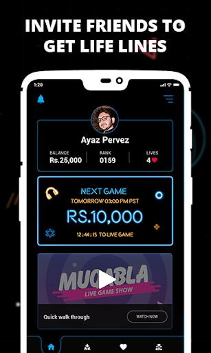 Muqabla -Free Online Live Quiz Game Show 2.1.0 screenshots 2