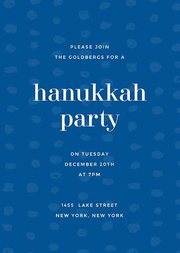 Annual Hanukkah Party - Hanukkah Template