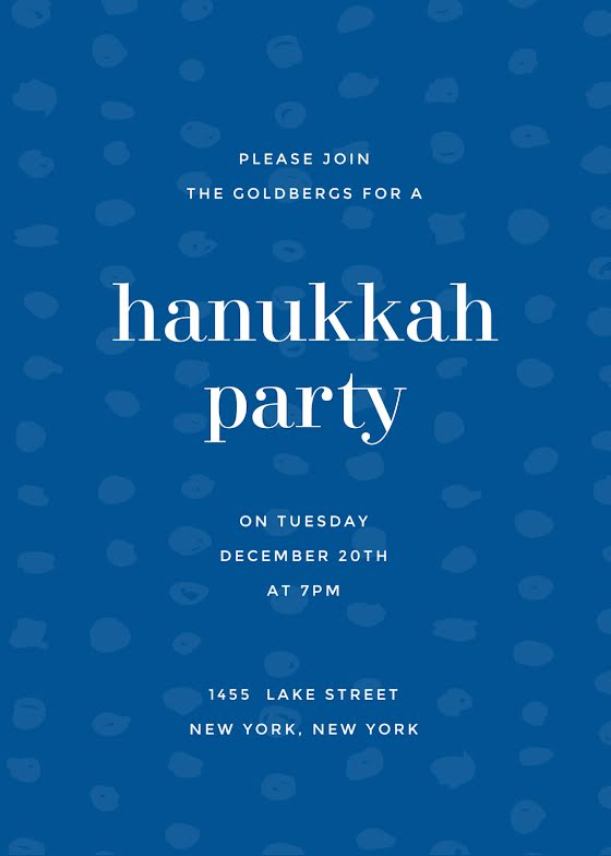 Annual Hanukkah Party - Hanukkah Template