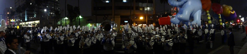 Photo: Hollywood lights are nothing compared to the sound of the VP Marchin' Spartans!