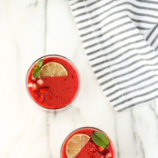 Pink Passion Fruit Smoothie.