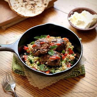 Lamb Merguez Patties with Couscous Salad