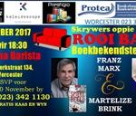Skrywers oppie Rooi Bank: Franz Marx & Martelize Brink : Blindiana Barista