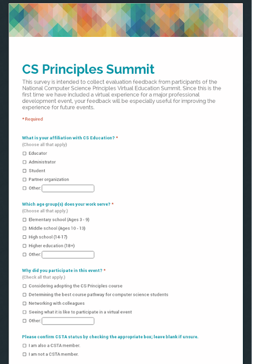 CS Principles Summit
