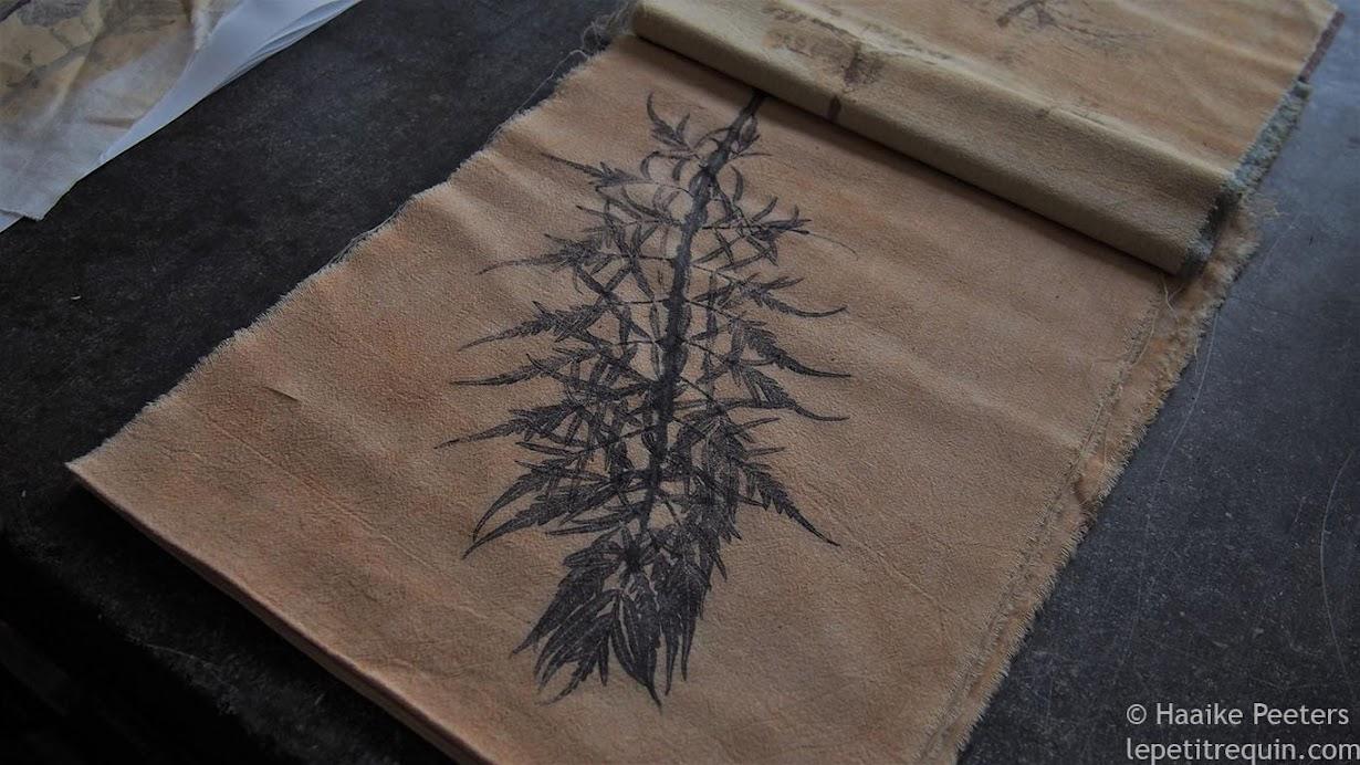 Textieldrukken met planten (Le petit requin)