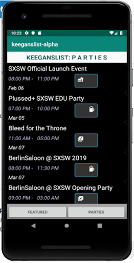 Screenshot for KeegansList in United States Play Store