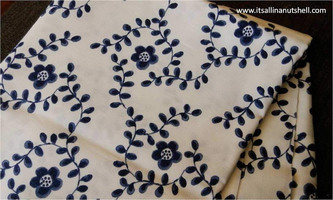 fabric with blue flowers