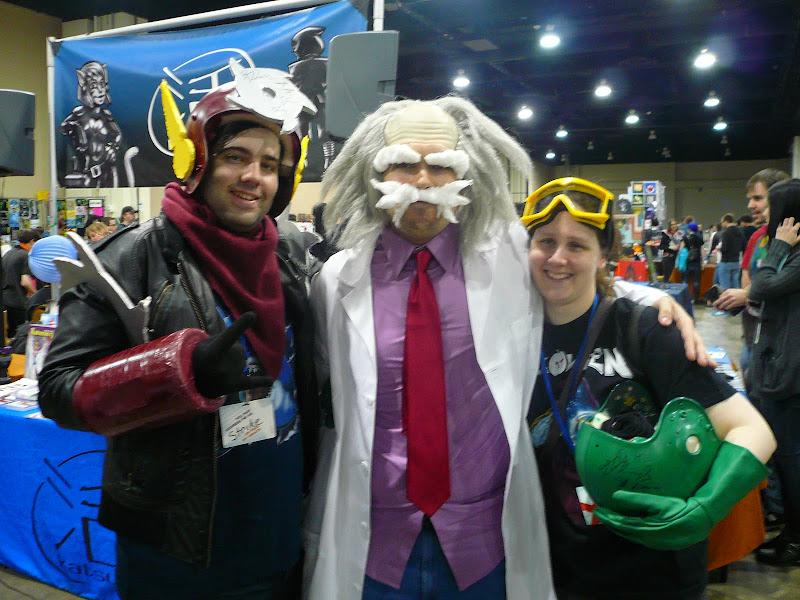 Photo: Metalman, Dr. Wily, and Bubbleman