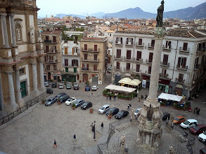 Photo: The 4 storey in the middle - left was our home, Palermo