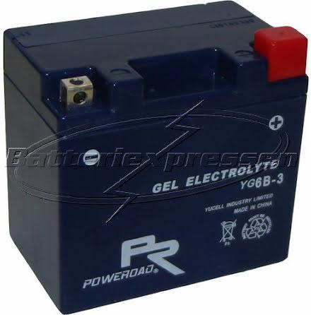 YT6B-3,YT6B3 MC gelbatteri 6Ah