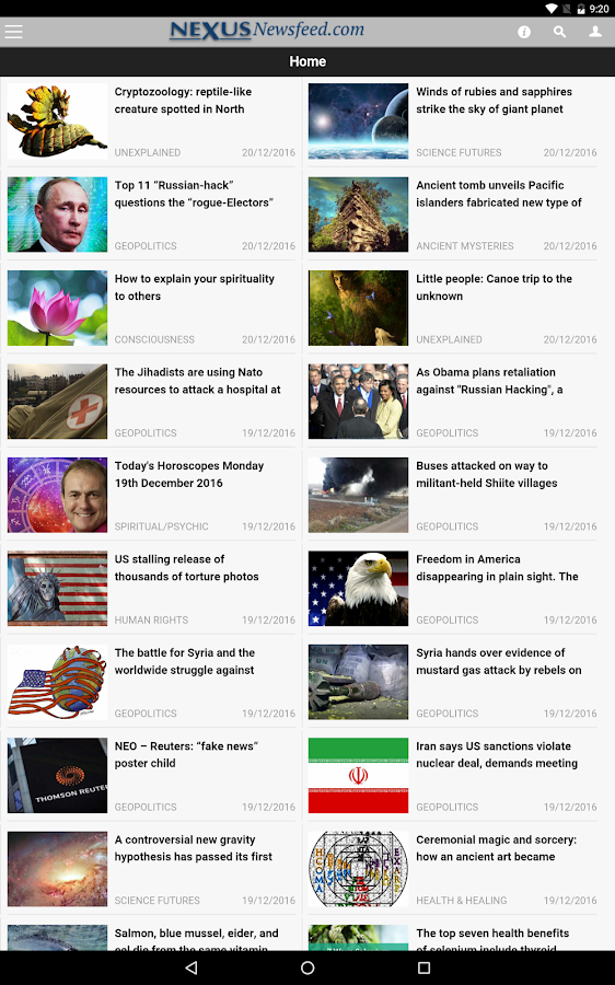 Nexus Newsfeed- screenshot