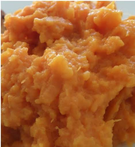 Fluffy, Spicy, Sweet Mashed Sweet Potatoes.