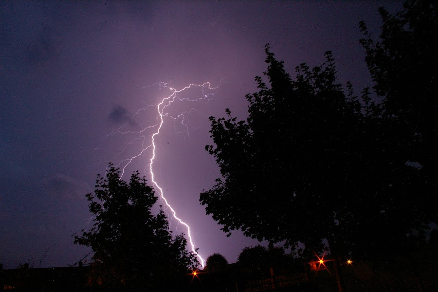 That was close by Ian Clothier - Landscapes Weather ( lightning weather purple nature frightened,  )