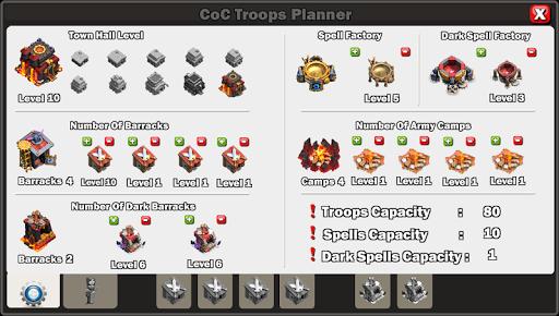 Clash Troops Planner