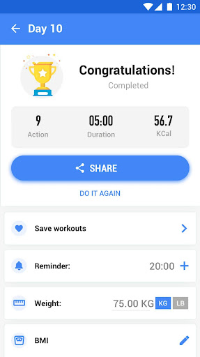 Abs Workout - 30 Day Ab Challenge 1.0.1 Screenshots 6