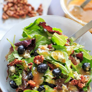 Italian Blue Salad with Apricot Dressing.