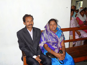Photo: Suzane's parents. Pastor Pradap & Jyodi who live and have a children's orphanage in Phulbani.