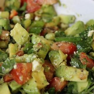 Cilantro, Avocado, Tomato, and Feta Salad.