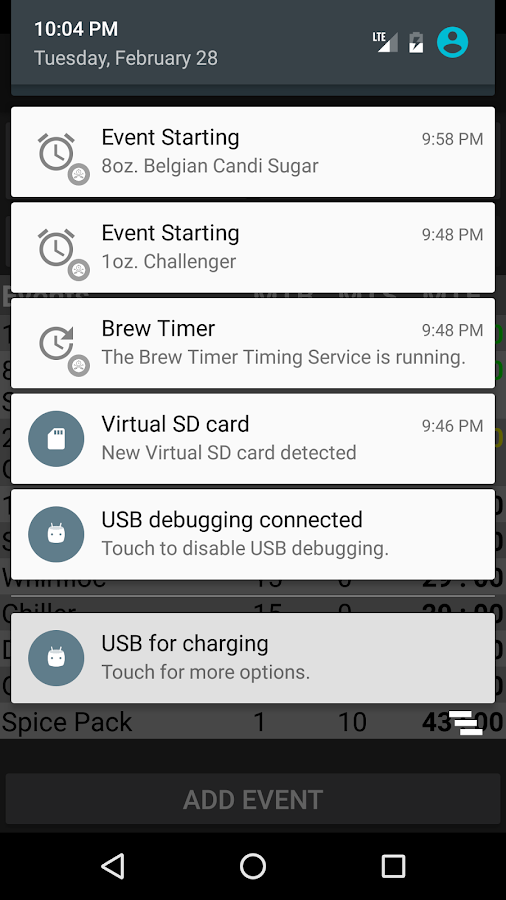 Brew Timer- screenshot