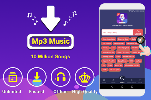 free music search engine for download or play mp3