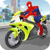 Superhero Stunts Bike Racing