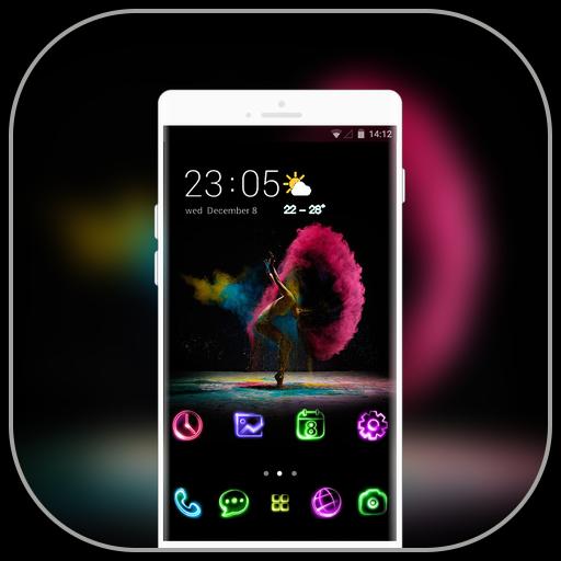 Theme for Samsung galaxy a7 color dancer wallpaper icon