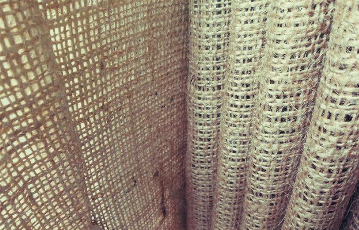 bahan karung goni yang di gunakan