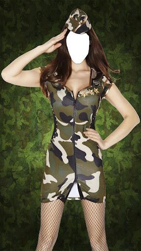 女子軍的照片套裝