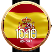 Animated Spain Flag Watch Face