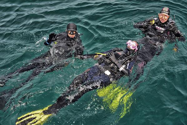 La prima immersione in acque libere di mcris