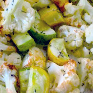 Roasted Cauliflower and Zucchini.