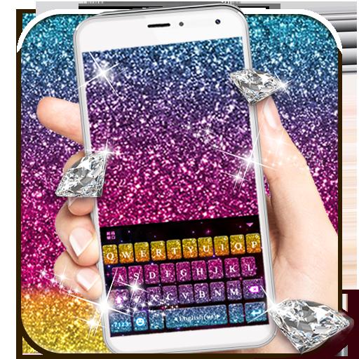 Multi Color Glitter Keyboard Theme