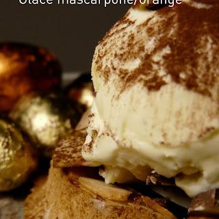 Easter Almond Nest with Orange Mascarpone Ice Cream.
