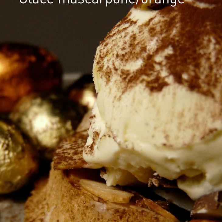 Easter Almond Nest with Orange Mascarpone Ice Cream Recipe