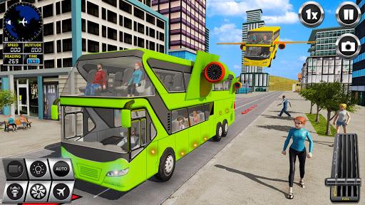Flying Bus Driving simulator 2019: Free Bus Games screenshots apkshin 16