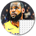 Basketball Players Color By Number - Pixel Art icon