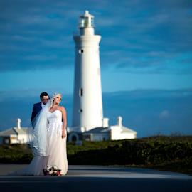 Lighthouse by Lood Goosen (LWG Photo) - Wedding Bride & Groom ( bride, groom, wedding photography, wedding photographer, bride and groom, bride groom, weddings, wedding day, wedding photographers, wedding )
