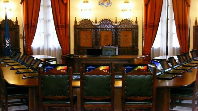 Palace of Cotroceni main room, presidency of Romania in Bucharest