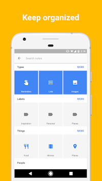 Google Keep – белешке и листе APK screenshot thumbnail 4