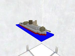 海に浮かぶ戦艦