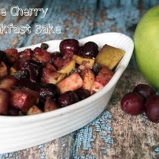 Apple Cherry Breakfast Bake.