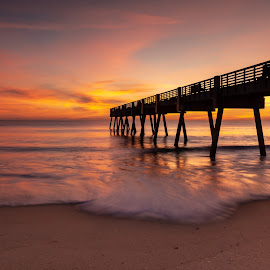 Vero Beach sunrise by Jerry Burkard - Buildings & Architecture Bridges & Suspended Structures (  )