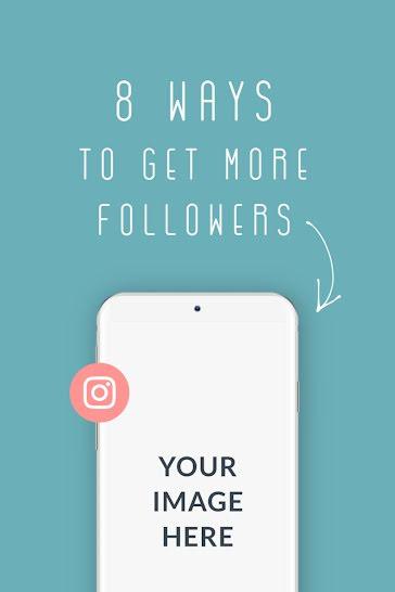 More Followers Phone Mockup - Pinterest Pin Template